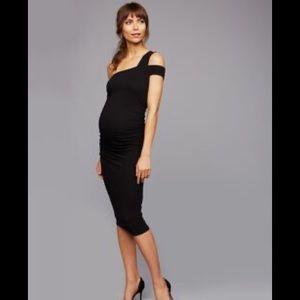 Isabella Oliver one shoulder dress maternity